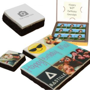 personalised photo brownies