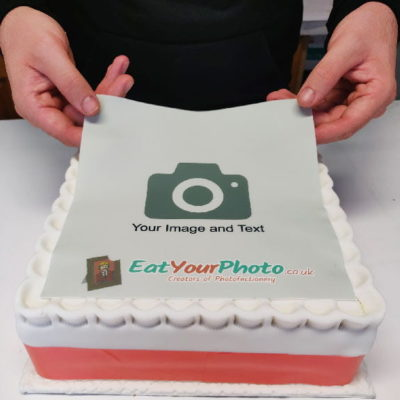 personalised edible photo cake topper