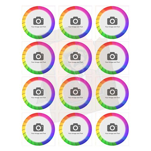 rainbow themed cupcake toppers