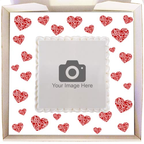 Gift Cake with Heart Frame