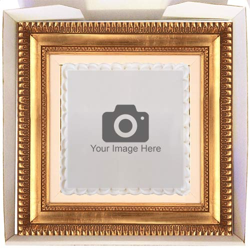 gift cake with ornate frame