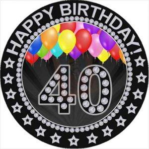 40 birthday topper