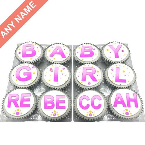 personalised baby girl cupcakes