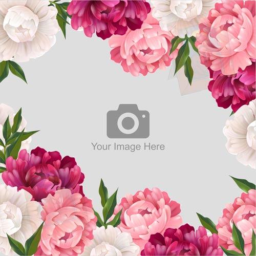 Floral Frame Photo Upload