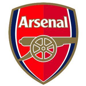 arsenal badge cake topper