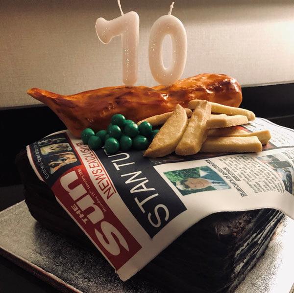 home baker using edible photos