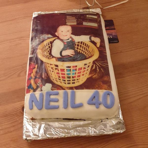 Lisa's cake using edible photos