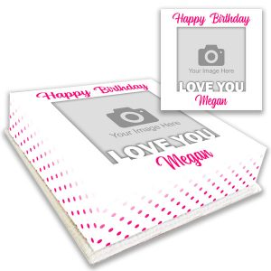 Love You Birthday Photo Cake Personalised