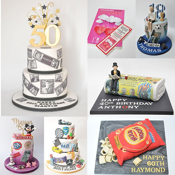 personalised cakes using edible prints from eatyourphoto