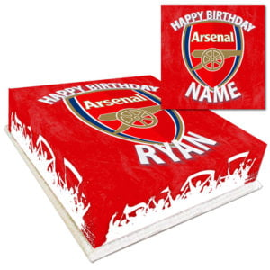 Personalised Arsenal FC Football Cake