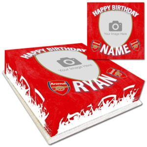 Personalised Arsenal Photo Birthday Cake