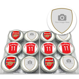 Personalised Arsenal FC Cupcakes with Photo