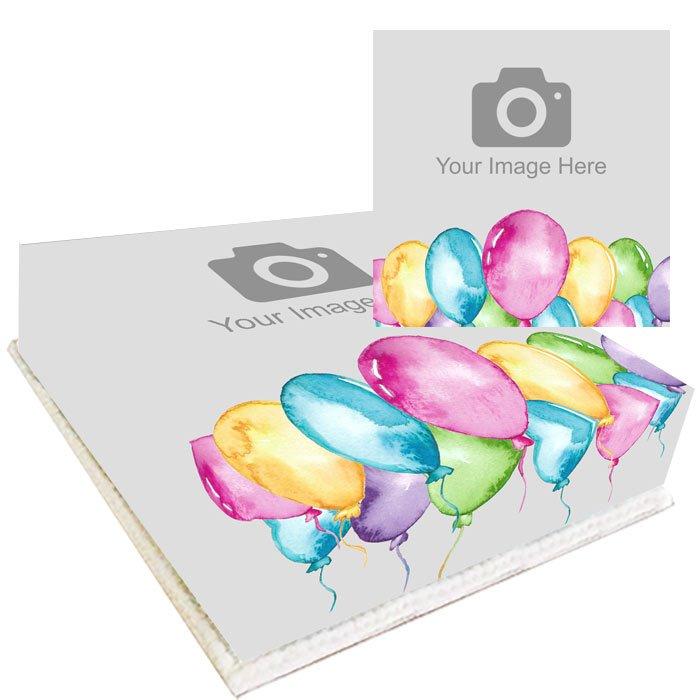 personalised balloons photo cake