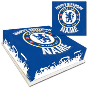 Personalised Chelsea Birthday Cake with Name