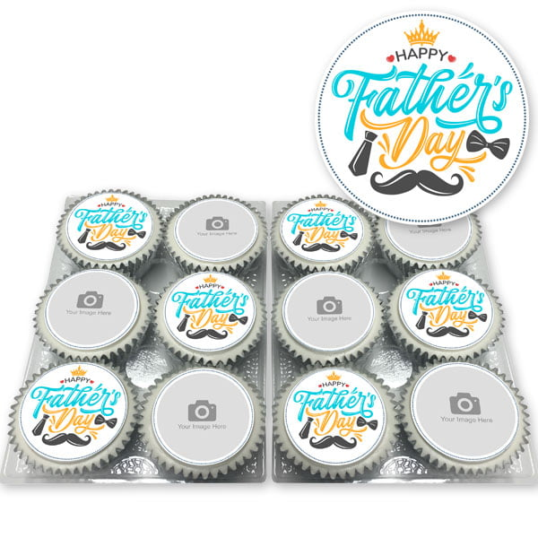 Father's Day Photo Cupcakes by EatYourPhoto