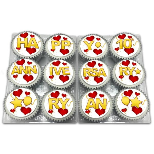 Personalised Anniversary Cupcakes