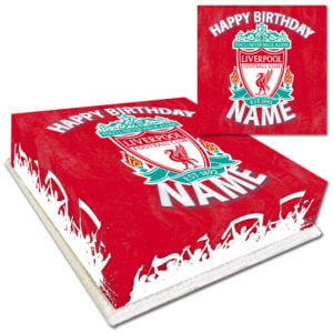 Personalised Liverpool Birthday Cake