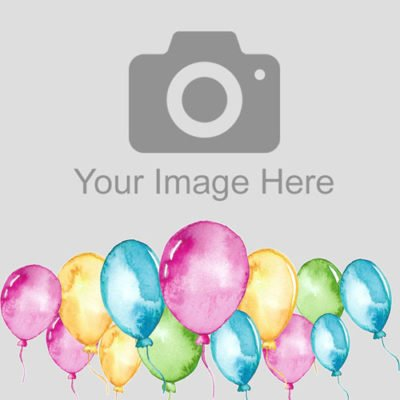 Balloons photo cake topper