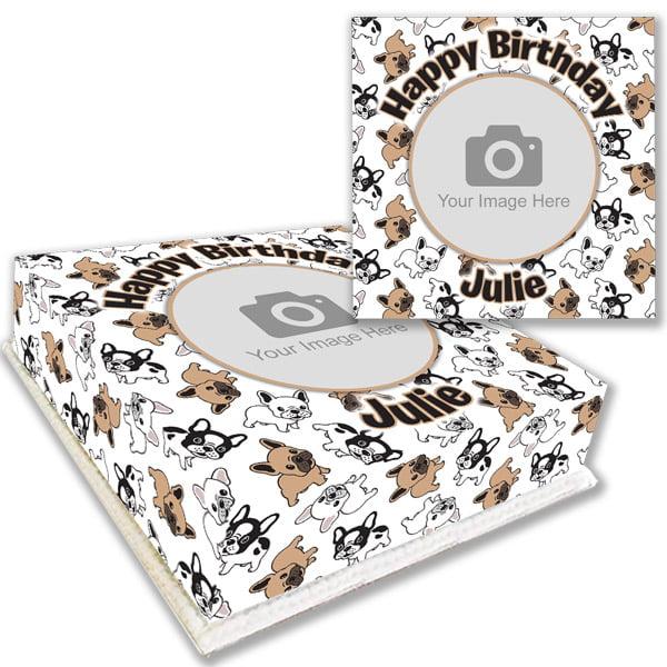 French Bulldog Birthday Cake