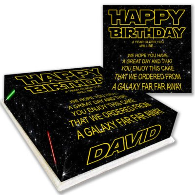 Star Wars Birthday Cake Text