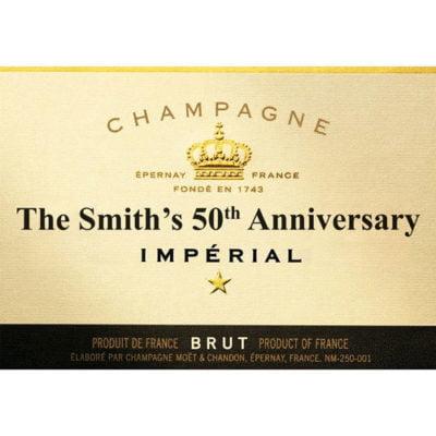 Champagne Bottle Edible Label