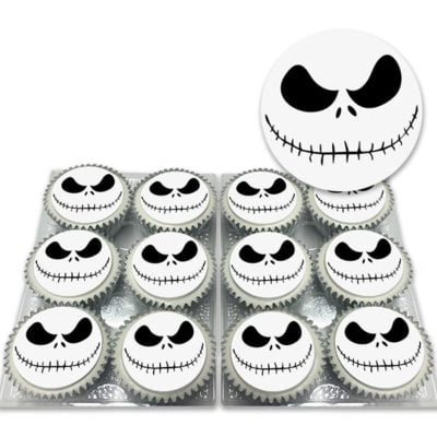 Nightmare Skull Halloween Cupcakes