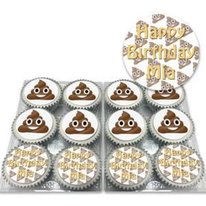 Poop Emoji Birthday Cupcakes Online