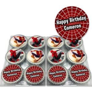 Spiderman Birthday Cupcakes Delivered