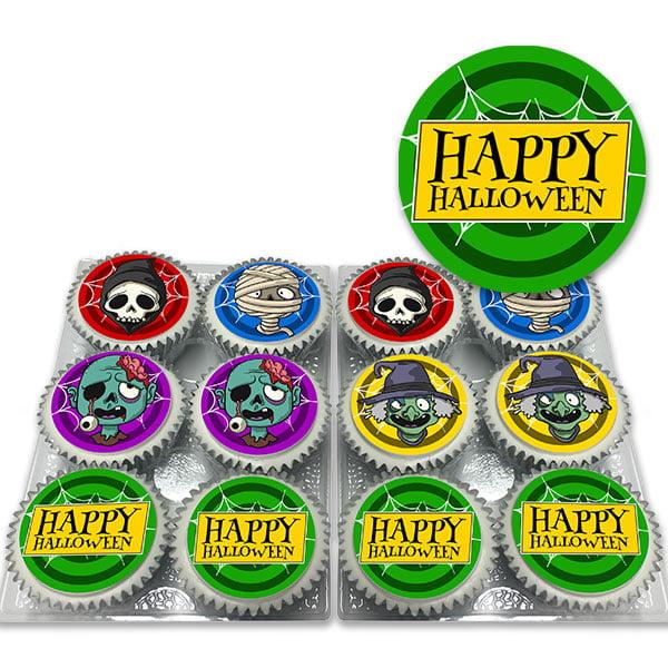 Spooky Happy Halloween Cupcakes