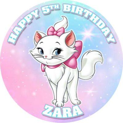 Cat Marie Birthday Cake Topper