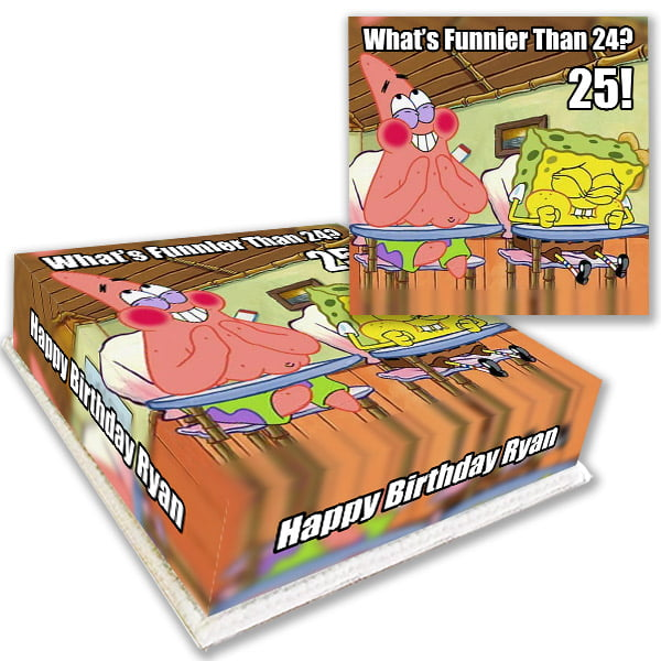 Buy Spongebob What's Funnier Birthday Cake Delivered