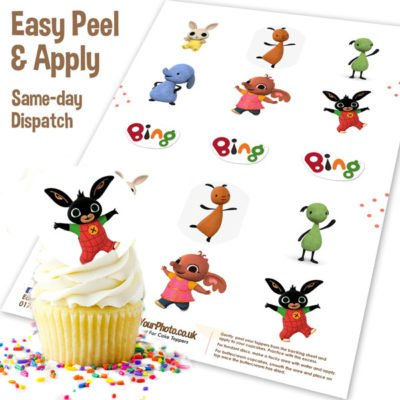 Bing Character Cupcake Toppers