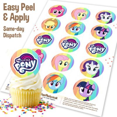 My Little Pony Cupcake Topper