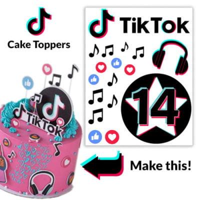 personalised tiktok cake toppers