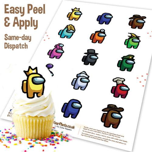 Among Us Edible Cupcake Topper