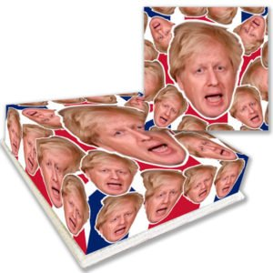 Boris Johnson Face Birthday Cake