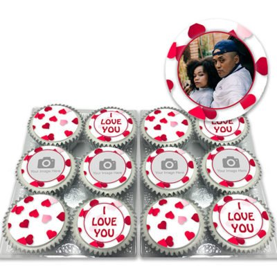 hearts photo valentines cupcakes delivered