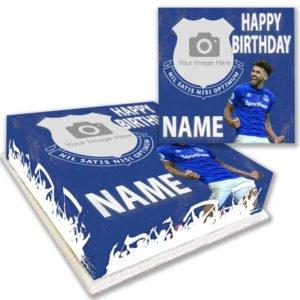 everton player birthday cake delivered