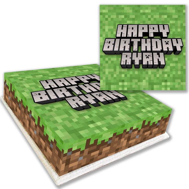 Minecraft Birthday Cake Delivered