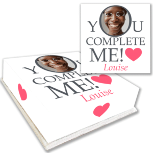 You Complete Me Anniversary Love Cake