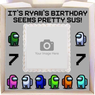 Among Us Gift Cake