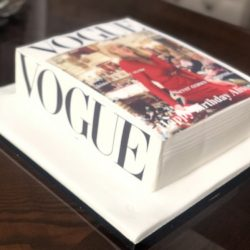 vogue book cake example made with edible photos