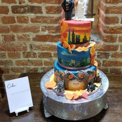 wedding cake with edible photo example